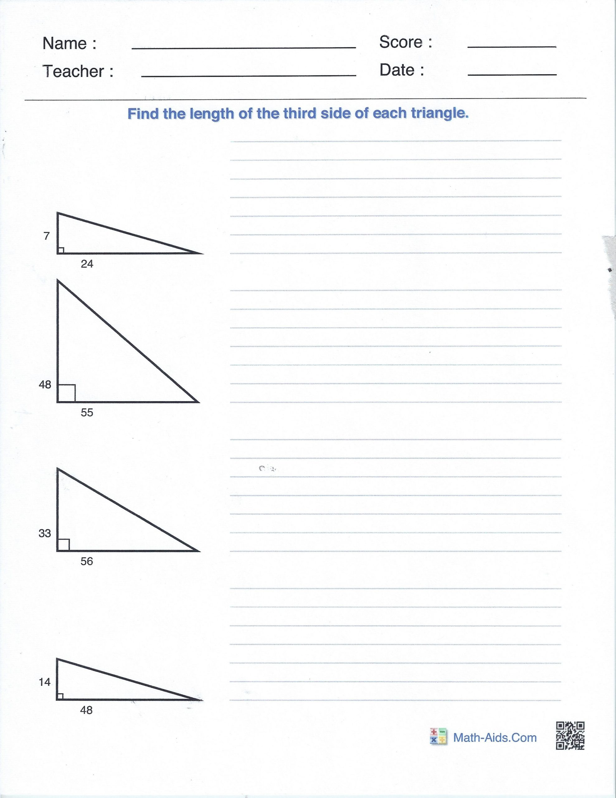 Solving Square Root Equations Worksheet Right Angles and the Pythagorean theorem