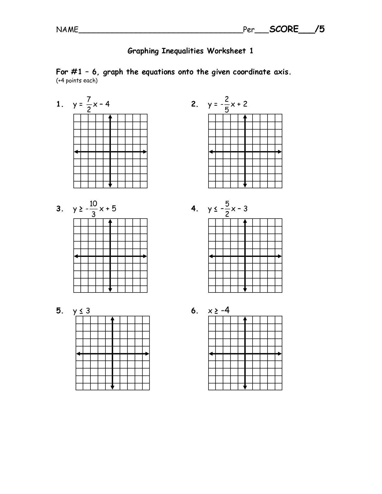 Solving Systems Of Inequalities Worksheet Systems Of Inequalities Worksheet