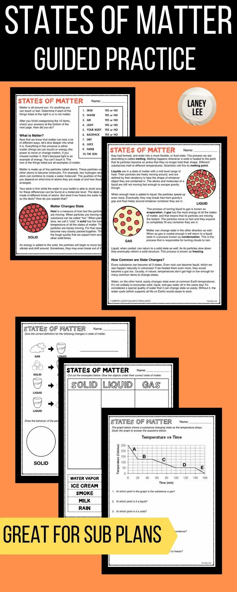 States Of Matter Worksheet Pdf States Of Matter Worksheet Pdf Laney Lee Teaching