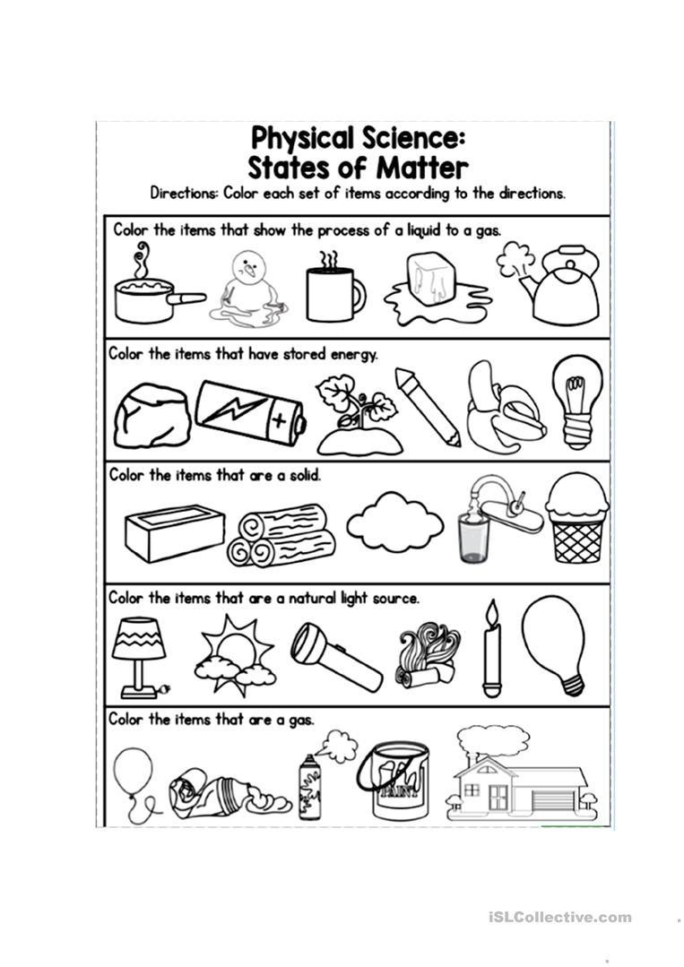 States Of Matter Worksheet States Of Matter English Esl Worksheets for Distance