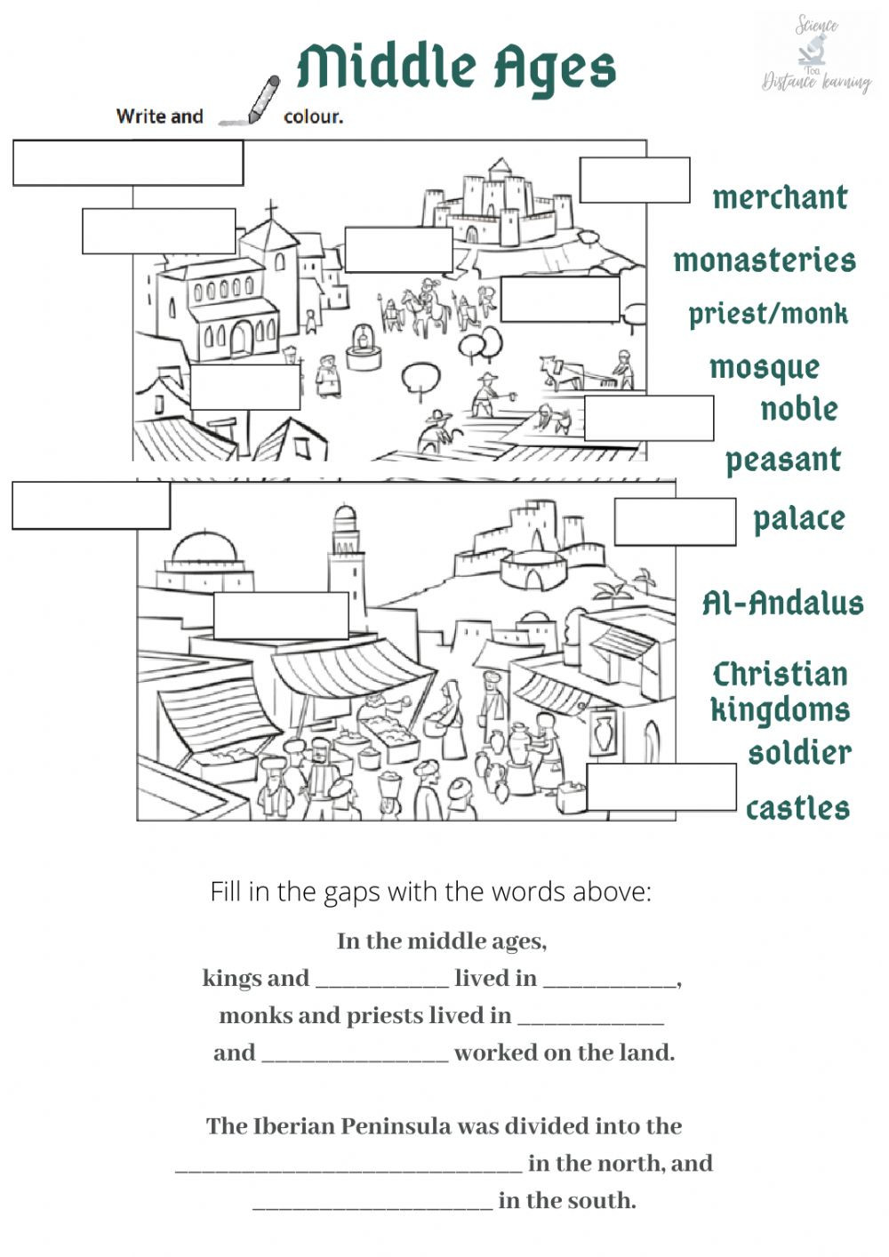 The Dark Ages Video Worksheet Middle Ages Interactive Worksheet