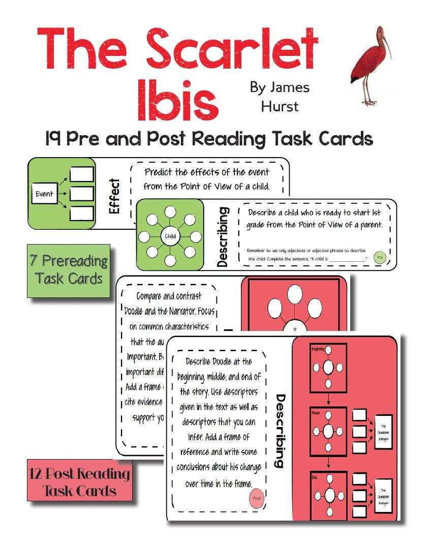 "The Scarlet Ibis Worksheet Use the Beloved Short Story ""the Scarlet Ibis "" by James"