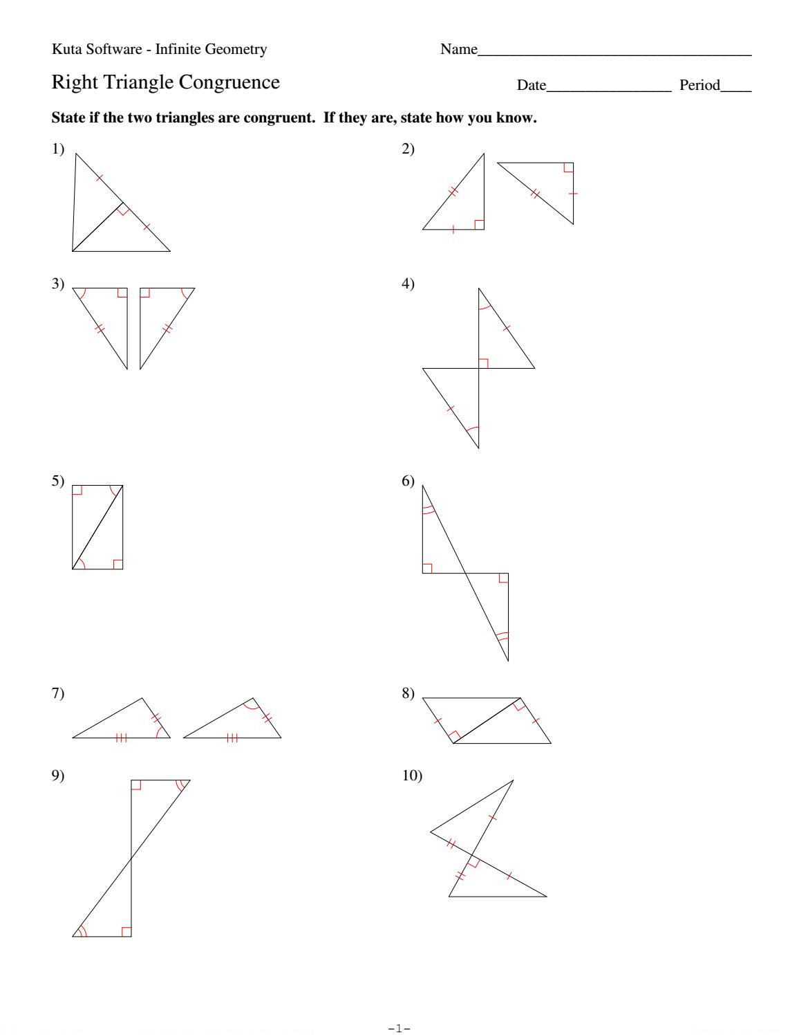 Triangle Congruence Worksheet Answers 4 Right Triangle Congruence by Hhs Geometry issuu