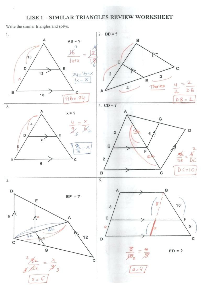 Triangle Congruence Worksheet Answers Proving Triangles Similar Worksheet Answers Nidecmege