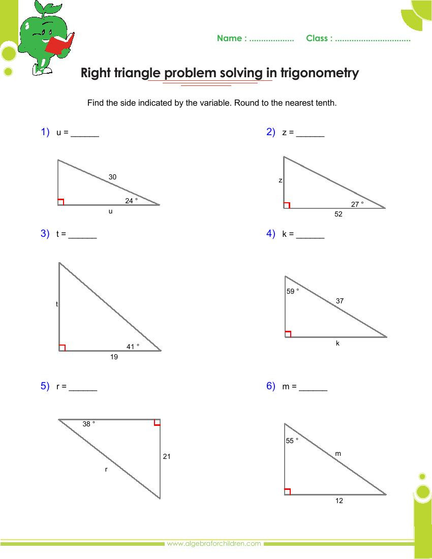 Trig Word Problems Worksheet Answers 35 Right Triangle Word Problems Worksheet Worksheet