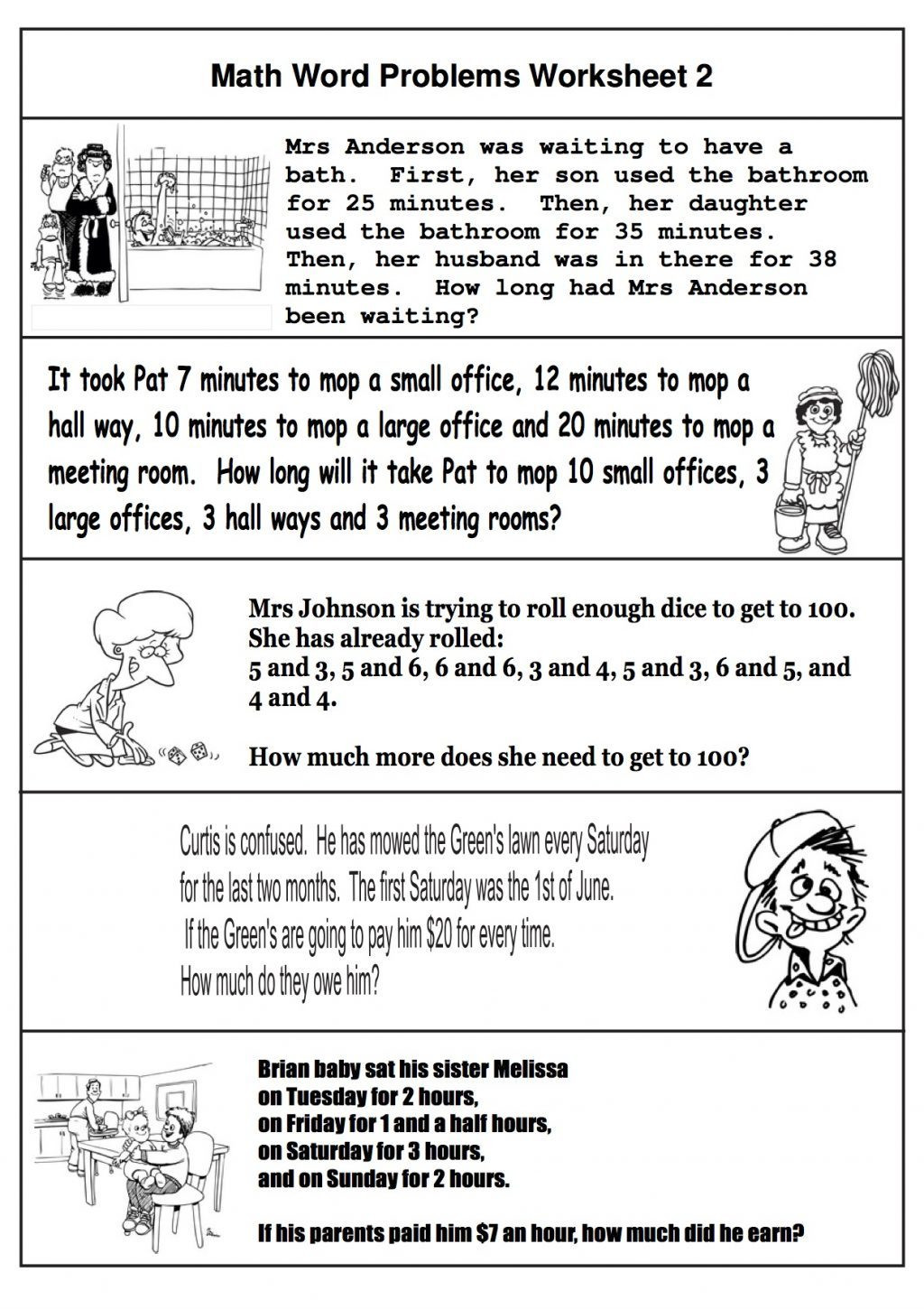 Two Step Word Problems Worksheet 2nd Grade Math Word Problems Best Coloring for Kids Two Step