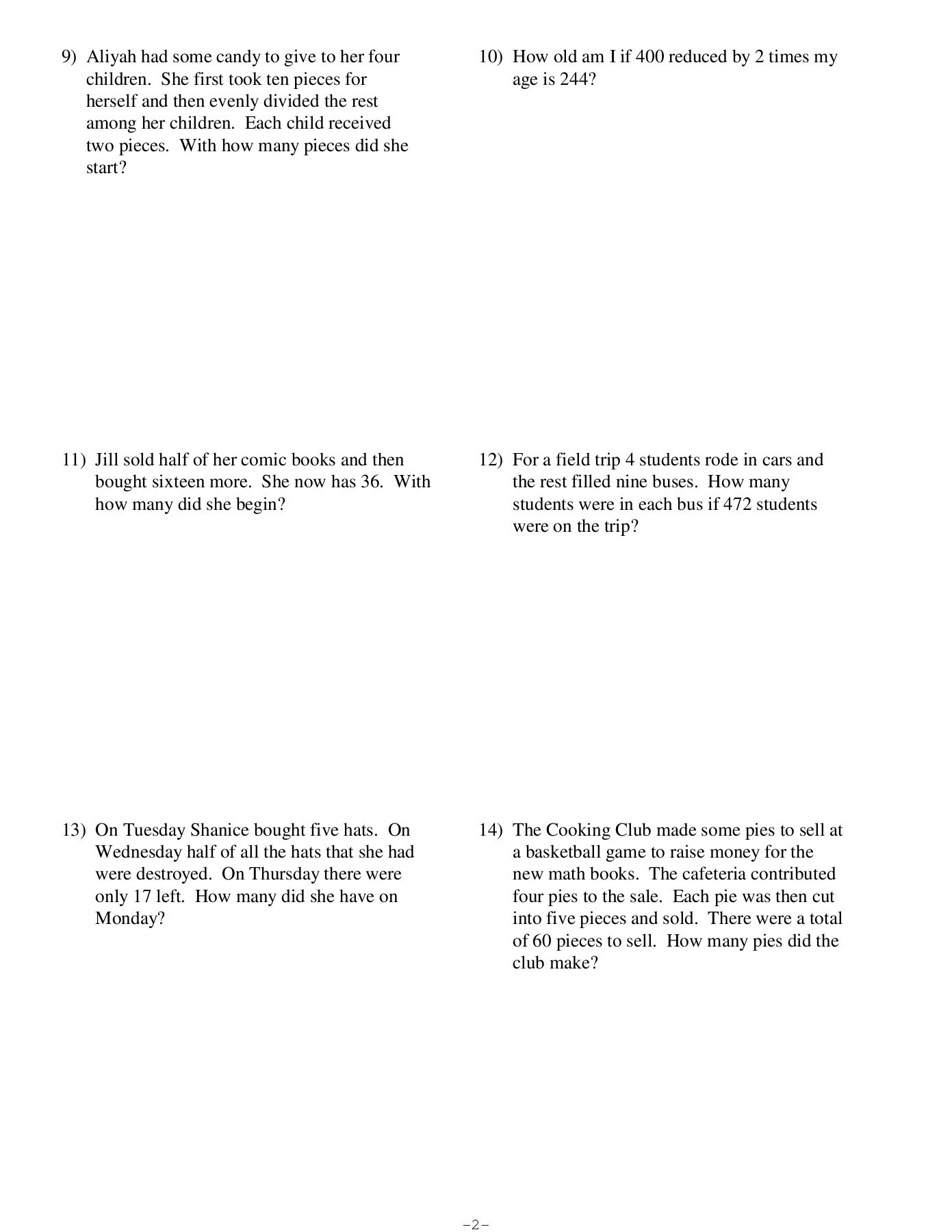 Two Step Word Problems Worksheet Two Step Word Problems Kuta software Llc Pages 1 4