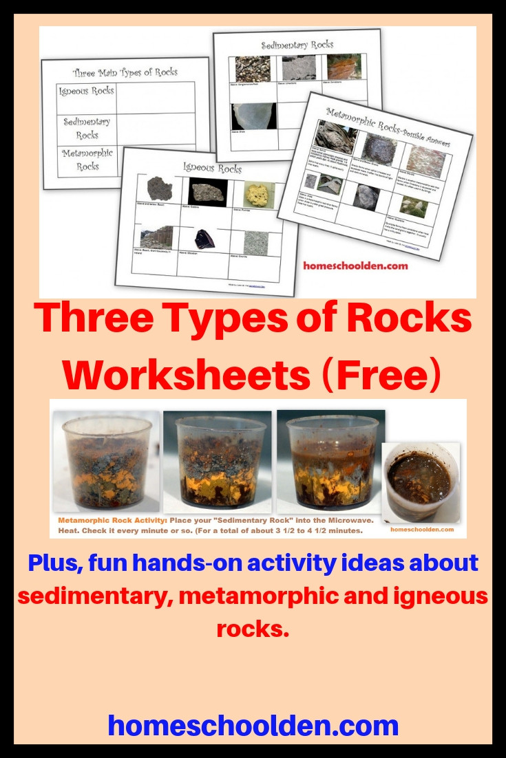 Types Of Rocks Worksheet Pdf the Three Types Of Rocks Our Activities and A Free