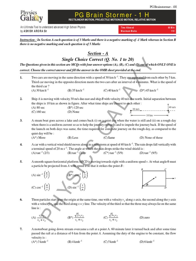 Velocity Worksheet with Answers Velocity Worksheet Answers