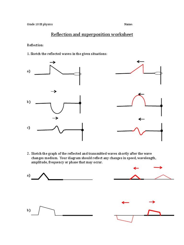 Waves Worksheet Answer Key Physics Ib 10 Waves Worksheet Answerkey Waves