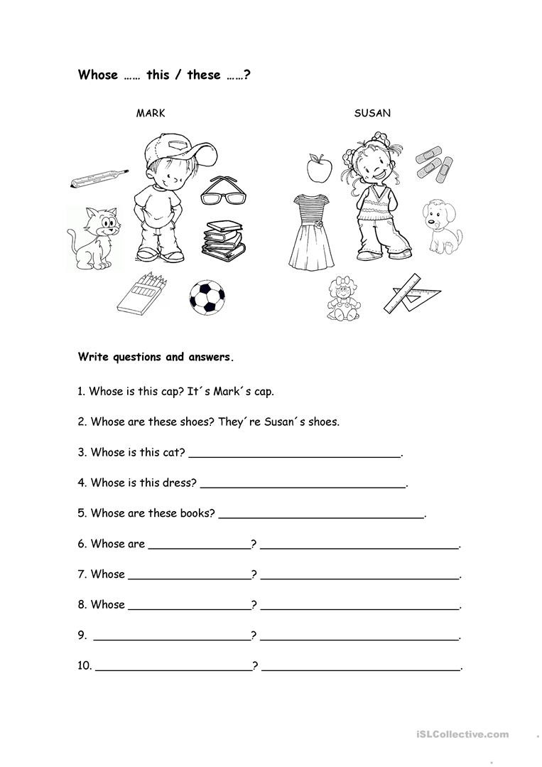 Whose Phone is This Worksheet whose Worksheet English Esl Worksheets for Distance