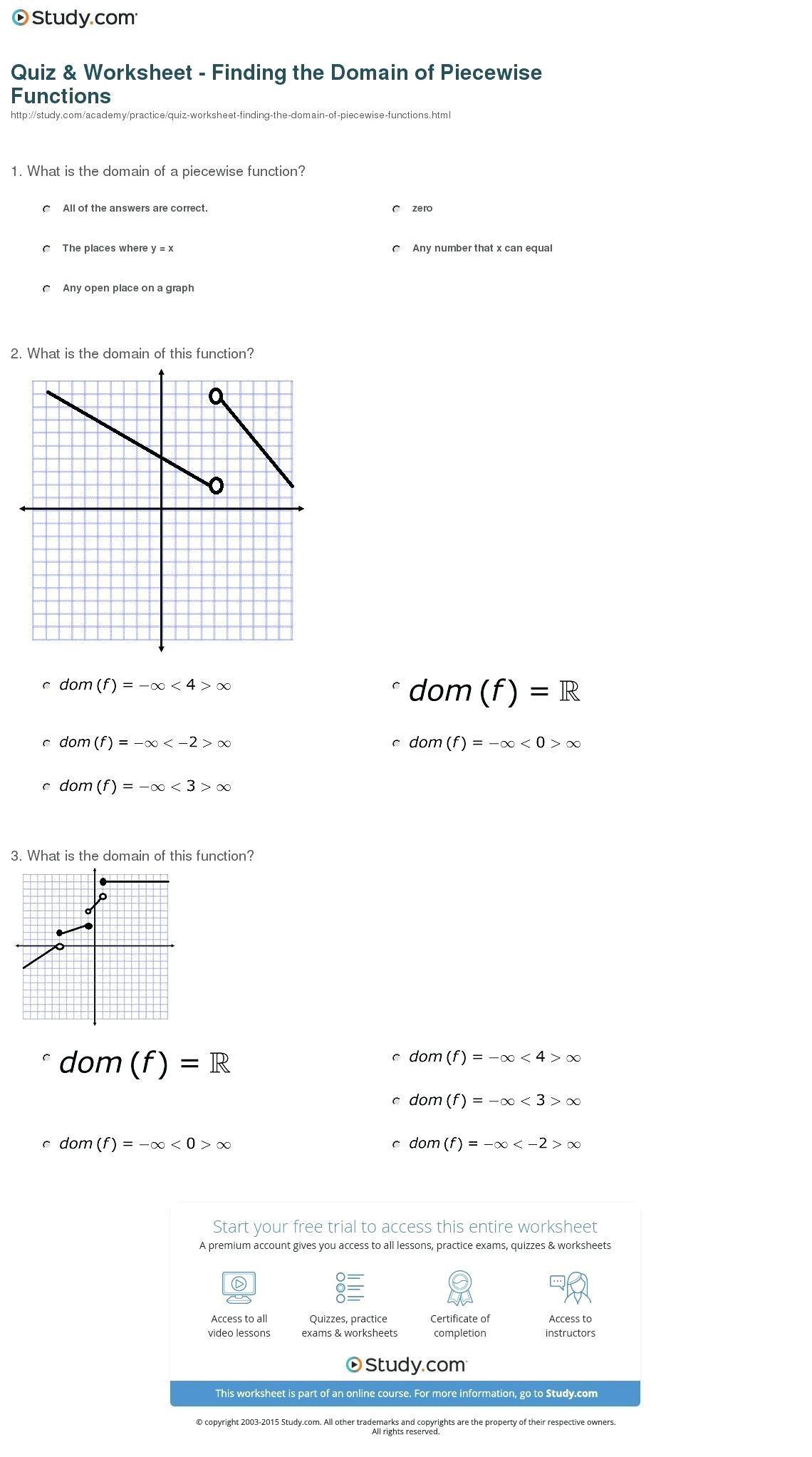 Worksheet Piecewise Functions Algebra 2 Limits Piecewise Functions Worksheet