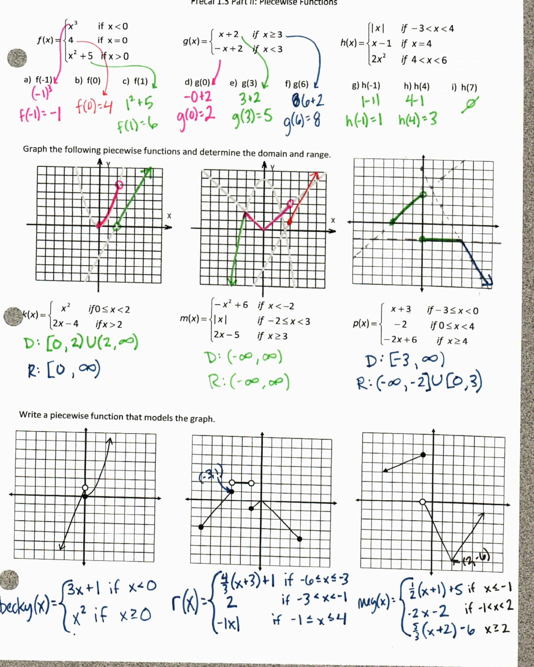Worksheet Piecewise Functions Algebra 2 Worksheet Piecewise Functions Algebra 2 Homework