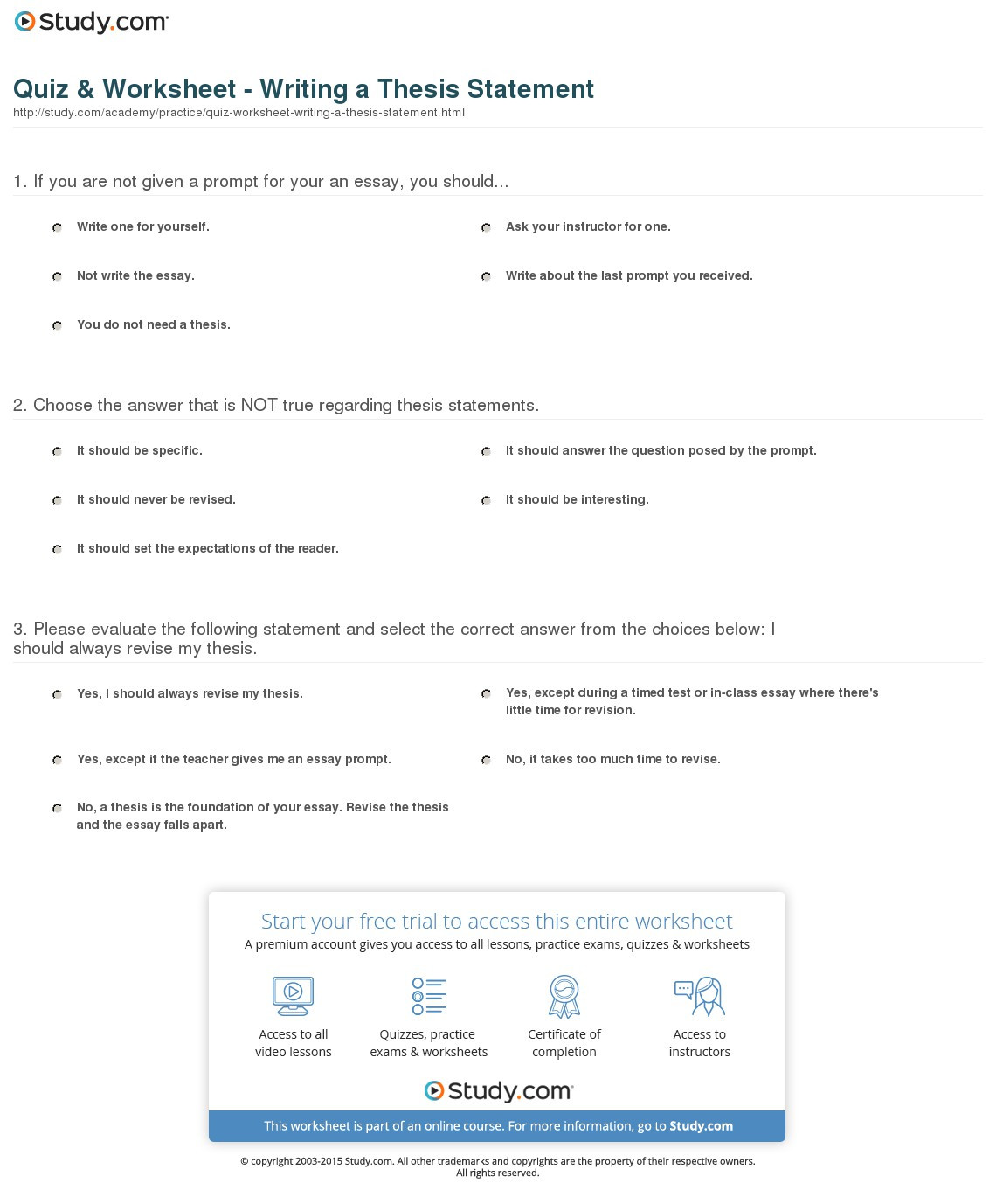 Writing A thesis Statement Worksheet 008 How to Write thesis Statement Step by Quiz Worksheet