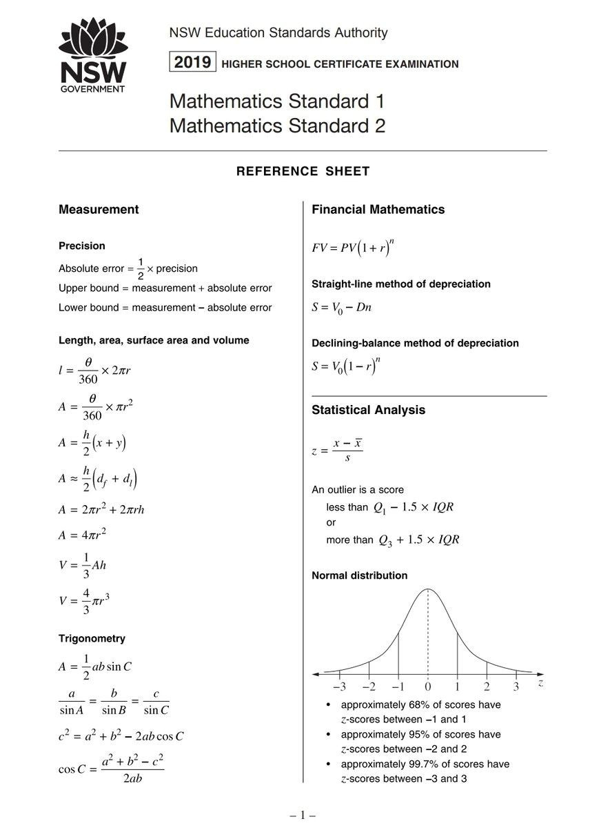 Z Score Practice Worksheet Standard 7 Maths formula Sheet Ten Outrageous Ideas for Your